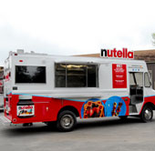 Nuttella sampling trucks